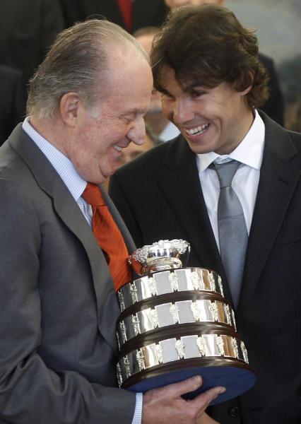 Foto de Don Juan Carlos y Rafa Nadal, cena para dos en el restaurante del tenista