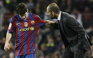 Foto de Guardiola visualizóel 'caso Messi'